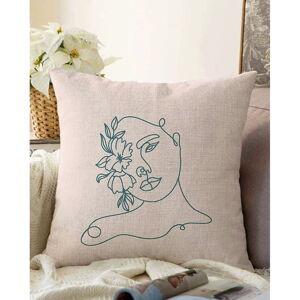 Světle béžový povlak na polštář s příměsí bavlny Minimalist Cushion Covers Chenille,55x55cm