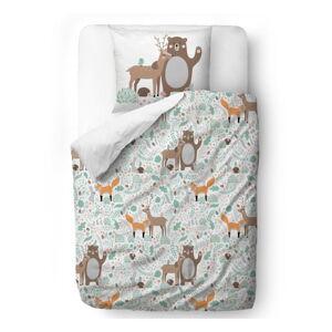Dětské povlečení z bavlněného saténu Mr. Little Fox Fox Dear Friends, 100x130cm