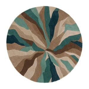 Modrý koberec Flair Rugs Splinter, ⌀ 135 cm