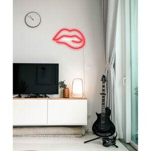 Červená nástěnná svíticí dekorace Candy Shock Biting Lips