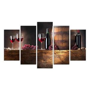 Vícedílný nástěnný obraz Wine Food