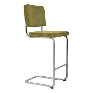 Zelená barová židle Zuiver Ridge Kink Rib