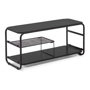 Černý televizní stolek La Forma Academy, 98 x 46 cm