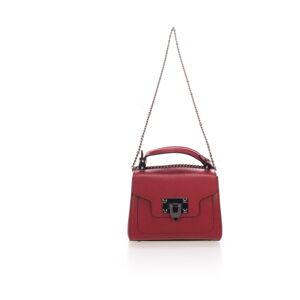 Vínově červená kožená kabelka Lisa Minardi Maraj