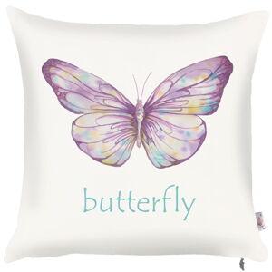 Povlak na polštář Mike&Co.NEWYORK Violet Butterfly, 43 x 43 cm