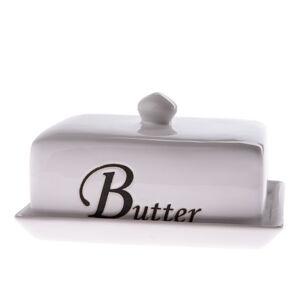 Bílá keramická máslenka Dakls