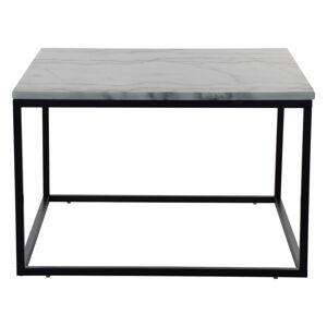 Mramorový konferenční stolek s černou konstrukcí RGE Accent, šířka75cm