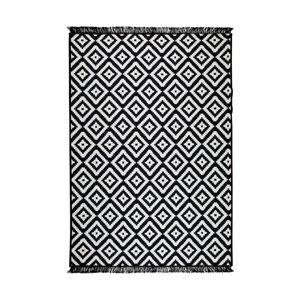 Černo-bílý oboustranný koberec Helen, 80 x 150 cm