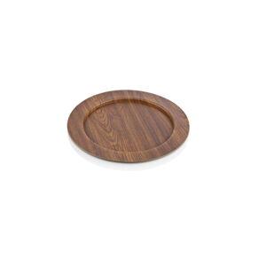 Hnědý oválný talíř Evelin, ø 32,5 cm
