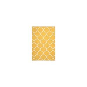 Žlutý vlněný koberec Safavieh Lulu, 243 x 152 cm