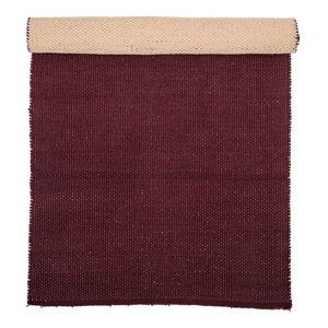 Tmavě červený bavlněný koberec Bloomingville Uni, 60 x 120 cm