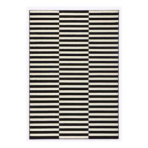 Černobílý běhoun Hanse Home Gloria Panel, 80x200cm