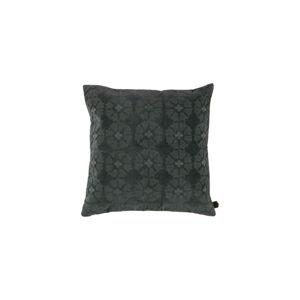 Sametový šedý polštář BePureHome Gossip, 50x50cm