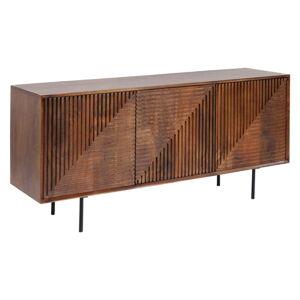 Komoda zmangového dřeva Kare Design Grooves, šířka 164cm