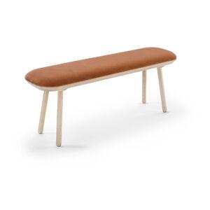 Oranžová sametová lavice EMKO Naïve,140cm
