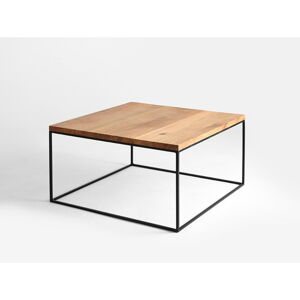 Konferenční stolek s černou konstrukcí Custom Form Tensio, 100 x 100 cm