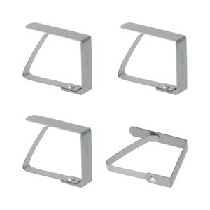 Sada 4 držáků na ubrus z nerezové oceli Metaltex Napkin