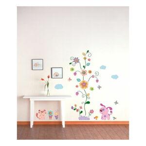 Nástěnná samolepka Ambiance Colorful animals and tree