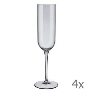 Sada 4 šedých sklenic na šampaňské Blomus Mira, 210 ml