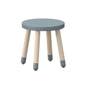 Modrá dětská stolička s nohami z jasanového dřeva Flexa Dots, ø 30 cm