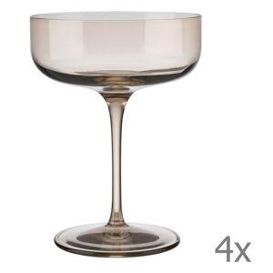 Sada 4 béžových sklenic na šampaňské Blomus Fuum