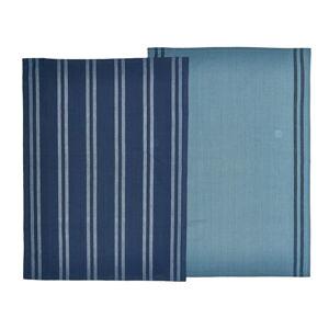 Set 2 modrých utěrek z bavlny Södahl, 50x70cm