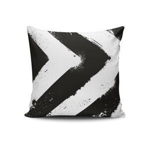 Černo-bílý povlak na polštář Calento Tassa, 45 x 45 cm