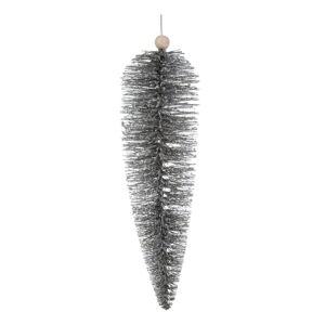 Závěsná ozdoba ve stříbrné barvě Dakls, délka 22 cm
