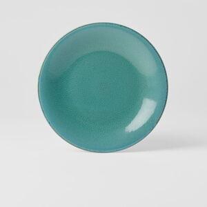 Tyrkysově modrý keramický talíř MIJ Peacock, ø 21 cm