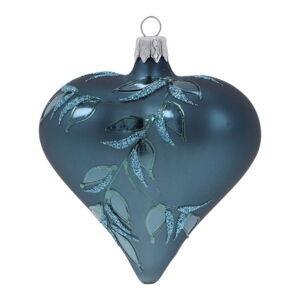 Sada 3 modrých skleněných vánočních ozdob Ego Dekor Heart