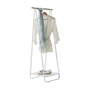 Stojan na oblečení s poličkou Compactor Portant Blanc