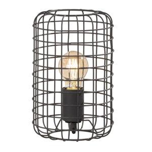 Černá stolní lampa Fischer & Honsel Justin,výška25cm