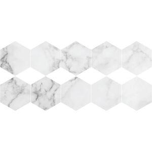 Sada 10 samolepek na podlahu Ambiance Hexagon