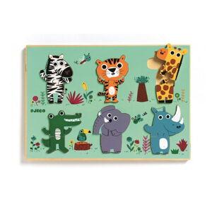 Dřevěné puzzle Djeco Zvířátka ze zoo