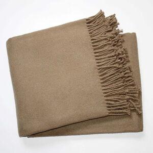 Hnědý pléd s podílem bavlny Euromant Basics, 140 x 180 cm