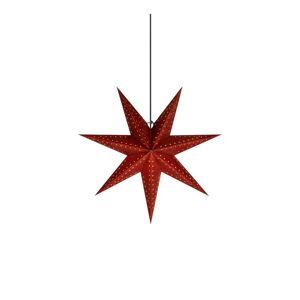Červená vánoční závěsná světelná dekorace Markslöjd Embla, výška45cm