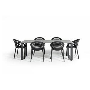 Zahradní set nábytku se 6 židlemi Le Bonom Joanna Strong