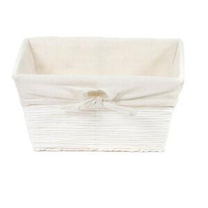 Bílý úložný papírový košík Compactor Kimo Paper Basket, 26 x 14 cm