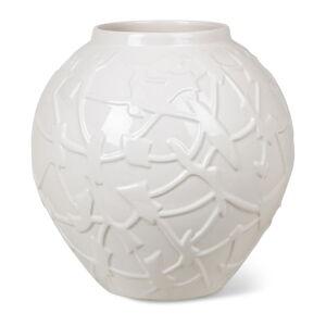 Bílá kameninová váza Kähler Design Relief, výška 20 cm