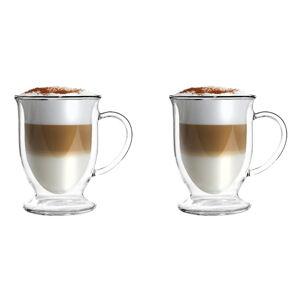 Sada 2 dvoustěnných hrnků na latte Vialli Design, 250 ml