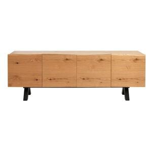 Nízká komoda v dekoru bílého dubu Unique Furniture Oliveto