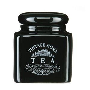 Černá keramická dóza na čaj Premier Housewares Vintage Home