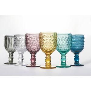 Sada 6 barevných sklenic na víno Villa d'Este Geometrie