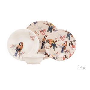 24dílná sada porcelánového nádobí Kutahya Pateo