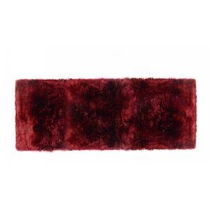 Červený koberec z ovčí vlny Royal Dream Zealand Long, 70x190cm
