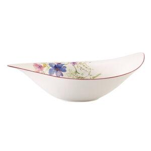 Bílá porcelánová salátová mísa s motivem květin Villeroy & Boch Mariefleur Serve, 3,8 l