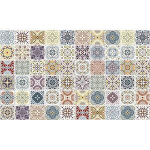 Sada 60 nástěnných samolepek Ambiance Cement Tiles Terrazzo Souzo, 15 x 15 cm