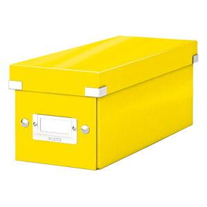 Žlutá úložná krabice s víkem Leitz CD Disc, délka 35 cm
