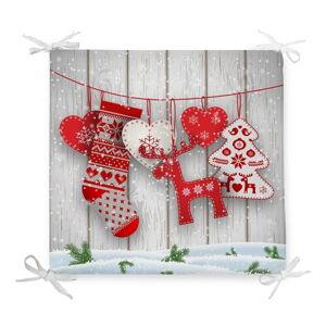 Vánoční podsedák s příměsí bavlny Minimalist Cushion Covers Xmas Symbols,42x42cm