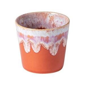 Bílo-oranžový kameninový šálek na espresso Costa Nova, 200 ml